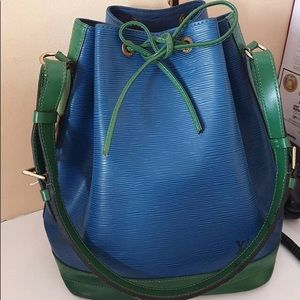 LV Epi blue drawstring bag